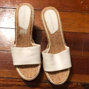 White wedge shoes